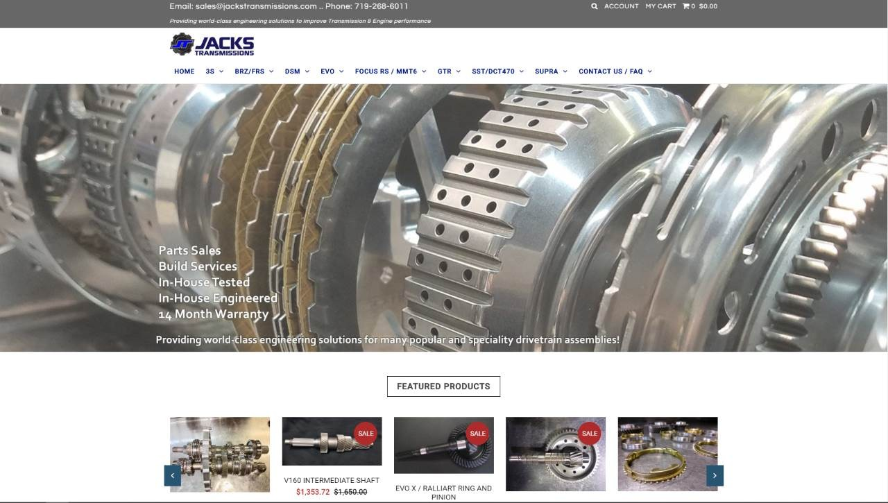 Jacks New Website 2009